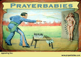 Prayerbabies knifethrower poster